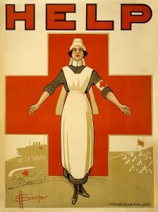 Recruiting poster for Australian nurses, Sydney. (Courtesy Wikimedia Commons; from the Library of Congress )