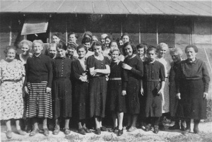 Prisoners at Gurs detention camp, from which many thousands were deported. Gurs, France, ca. April 1941. Courtesy U.S. Holocaust Museum, Washington, D.C.