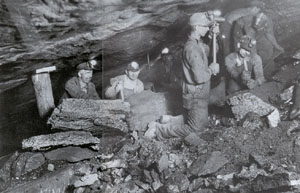 Pennsylvania coal miners. (Courtesy State of Pennsylvania)
