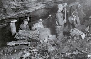 Pennsylvania coal miners. (Courtesy State of Pennsylvania)