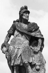 Statue of a Roman soldier. (Courtesy Vera Kratochvil.)