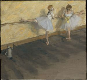 Dancers Practicing at the Barre, Edgar Degas (Courtesy Wikimedia Commons)