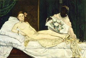 Olympe, Edouard Manet, 1863. (Courtesy Wikimedia Commons)