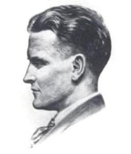 Arthur Bryant's sketch of F. Scott Fitzgerald, 1921 (Courtesy Wikimedia Commons; public domain in the United States).