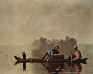 George Caleb Bingham, Fur Traders Descending the Missouri, 1845 (Metropolitan Museum of Art, courtesy Wikimedia Commons. Public domain, US)