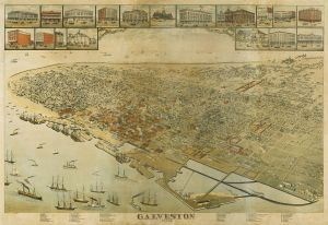 Map of Galveston, Texas, 1885, Augustus Koch (Courtesy Wikimedia Commons, public domain in the US).