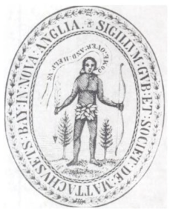 The Seal of the Massachusetts Bay Colony, 1629 (Courtesy Wikimedia Commons).