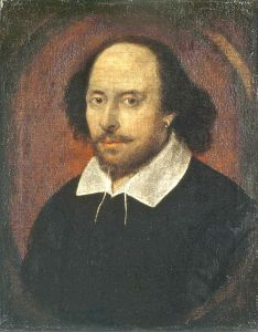 William Shakespeare, 1610 (Courtesy Wikimedia Commons).