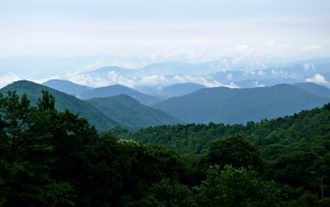 Blue Ridge Mountains, seen from Deep Gap, western North Carolina (Photo by Ken Thomas, public domain; courtesy singout.org).