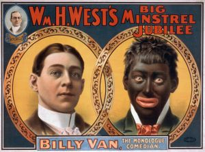 A publicity poster for Billy Van's blackface act, Strobridge Litho Co., 1900 (Courtesy Library of Congress)