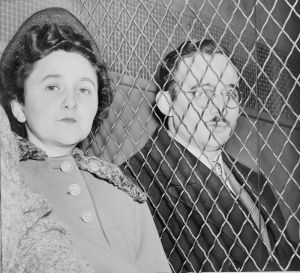 Ethel and Julius Rosenberg immediately after their conviction, 1951 (Roger Higgins, New York World-Telegram and the Sun, public domain by gift to the Library of Congress)
