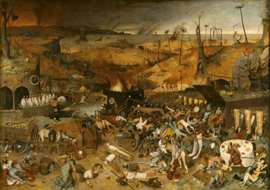Pieter Breughel the Elder's painting of the Black Death (Courtesy Museo del Prado, Madrid, via technology.org. Public domain).