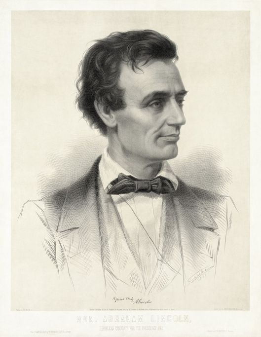 Thomas Hicks painted this portrait of Lincoln in 1859, a lithograph made from it figured in presidential campaign literature in 1860 (Courtesy Library of Congress via Wikimedia Commons).