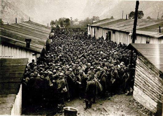 Some of the 250,000 Italian soldiers who surrendered at Caporetto in 1917 (Courtesy Digital Library of Slovenia via Wikimedia Commons).
