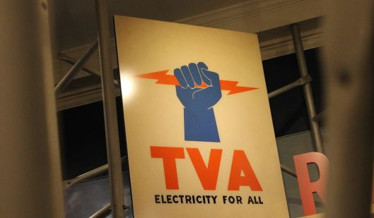 TVA sign from the Roosevelt Museum at Hyde Park, New York (Courtesy Billy Hathorn via Wikimedia Commons, 2015; public domain)