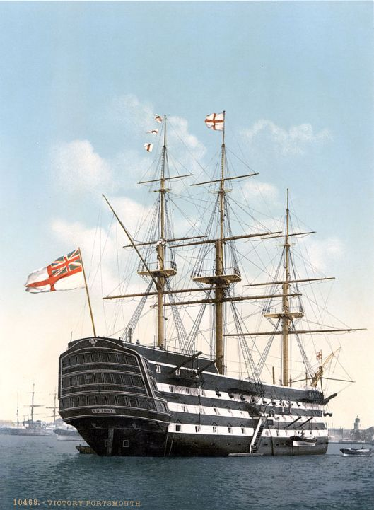 HMS Victory, the most famous British ship of the Napoleonic Wars, if not any era (Courtesy Wikimedia Commons).