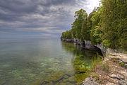 Cave Point County Park, Door County, Wisconsin (Courtesy Wikimedia Commons; public domain).