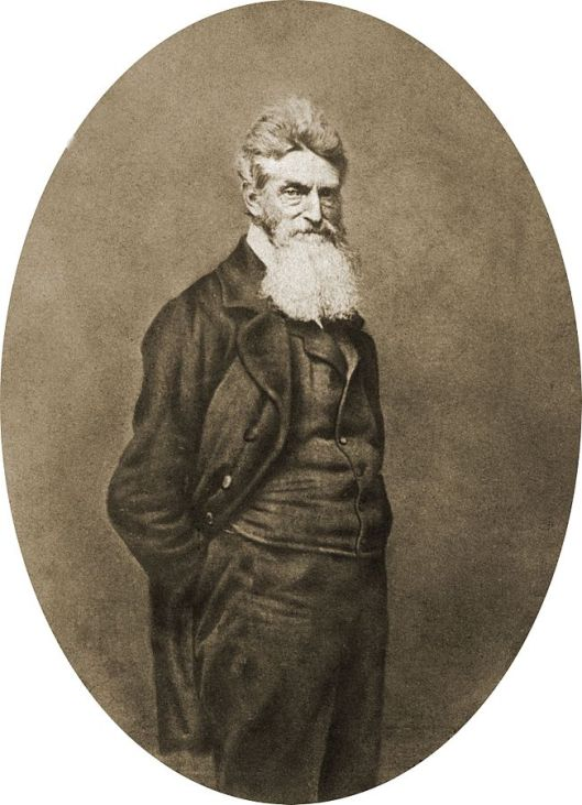John Brown, 1859, copy of a daguerrotype attributed to Martin M. Lawrence (Courtesy Library of Congress via Wikimedia Commons; public domain).