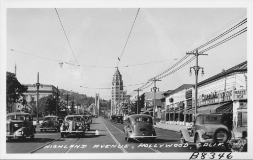 Sunseet Boulevard, Hollywood, 1937 (Courtesy losangelespast.com via  oac.cdlib.org)