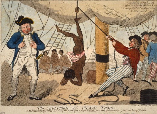 Punishment aboard a slave ship, 1792 (Courtesy Library of Congress via history.ac.uk)