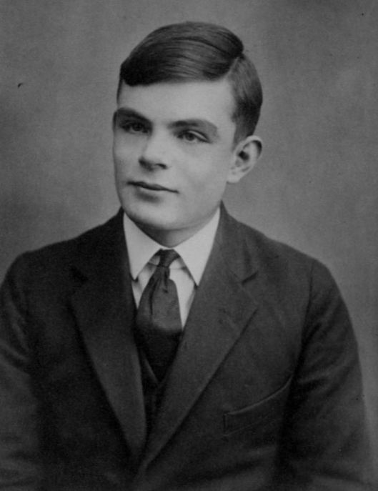 Alan Turing's passport photo at age 16, 1928 or 1929 (Courtesy Wikimedia Commons).