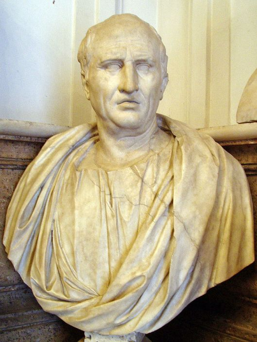 Bust of Cicero from the first century CE, Capitoline Museums, Rome (Courtesy glauco92 via Wikimedia Commons; public domain)