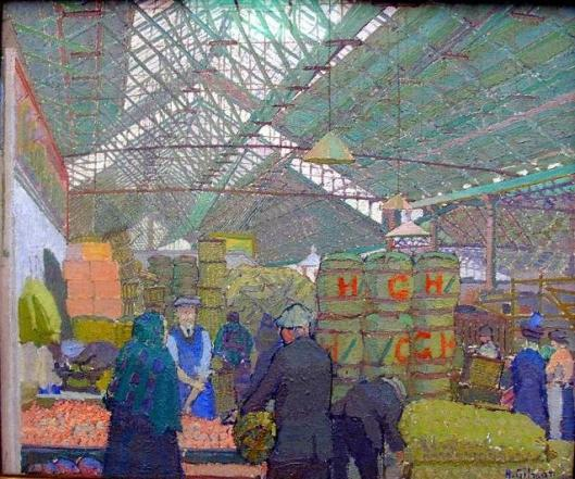 Harold Gilman's painting of Leeds Market, 1913 (Courtesy Wikimedia Commons, public domain)
