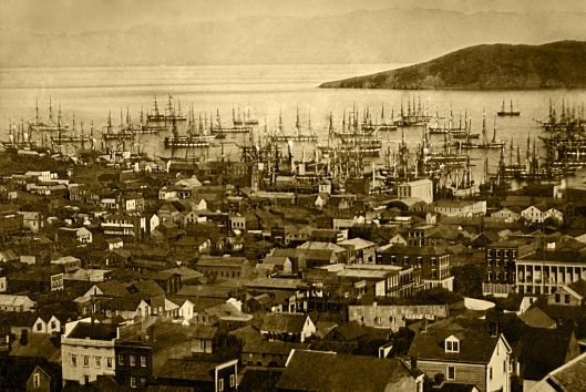 San Francisco harbor, Yerba Buena Cove, 1850 or 1851 (Courtesy Library of Congress, via Wikimedia Commons)