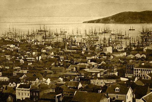 San Francisco harbor, Yerba Buena Cove, 1850 or 1851 (Courtesy Library of Congress, via Wikimedia Commons)