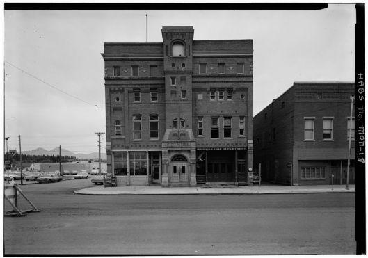 Bozeman, Montana, city hall, fire station, and opera house, built 1890, demolished, 1966 (Courtesy Historic American Buildings Survey, National Park Service, via Wikimedia Commons)