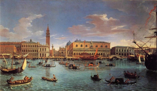 Gaspar van Wittel, View of the San Marco Basin, Venice, 1697, the original of which hangs in the Prado, Madrid (Courtesy Wikimedia Commons, public domain)